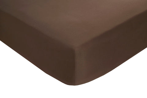 Polyester Chocolate Fitted Sheets - TO CLEAR