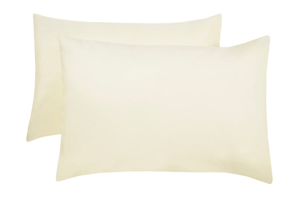 Polyester Cream Pillowcase Pairs