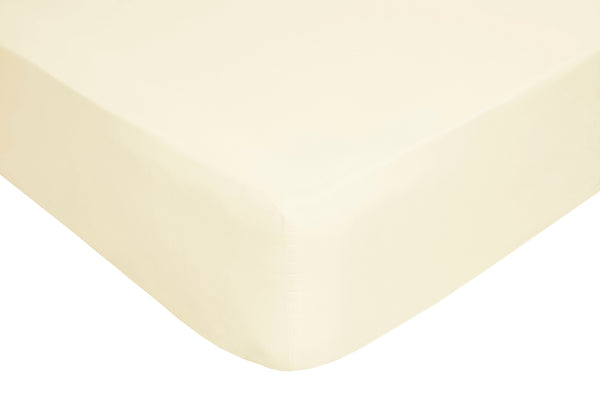Polyester Cream Fitted Sheets - TO CLEAR