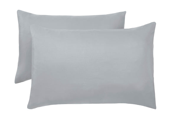 Polyester Grey Pillowcase Pairs