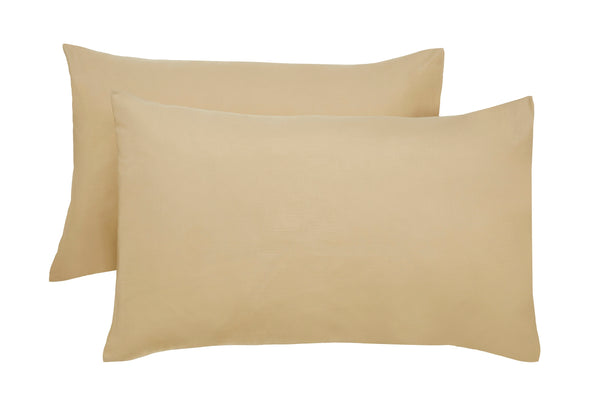 Polyester Latte Pillowcase Pairs - TO CLEAR