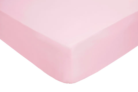 Polyester Pink Fitted Sheets
