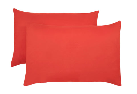 Polyester Red Pillowcase Pairs - TO CLEAR