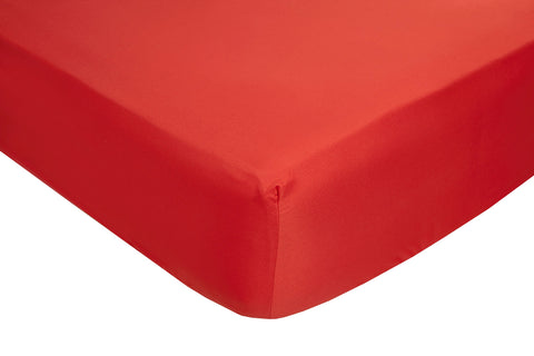 Polyester Red Fitted Sheets - TO CLEAR