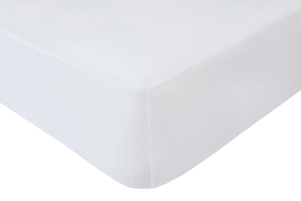 Polyester White Fitted Sheets - TO CLEAR