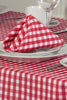 Gingham Easycare Cherry Tablecloth And Napkin Package Sets