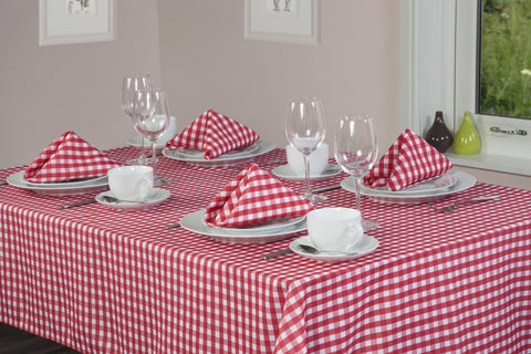 Gingham Easycare Cherry Tablecloths And Accessories