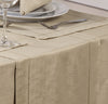 Linen Look Latte Tablecloths And Accessories