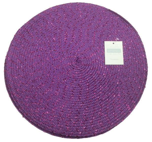 Metallic Effect Purple Pack Of 4 Placemats