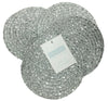 Metallic Effect Silver Pack Of 4 Coasters
