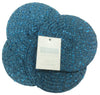 Metallic Effect Teal Pack Of 4 Coasters