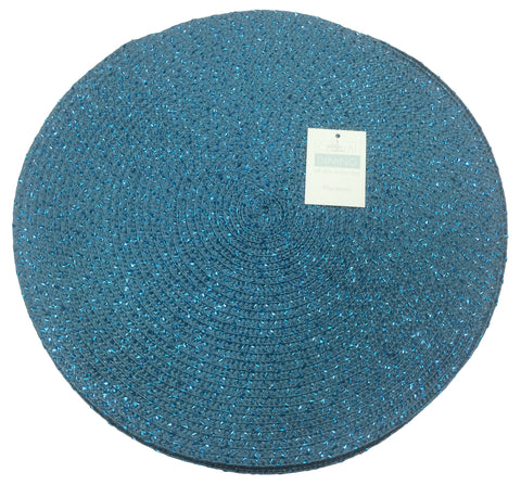 Metallic Effect Teal Pack Of 4 Placemats
