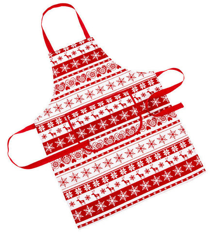 Nordic Red And White Christmas/Xmas Apron