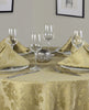 Palazzo Damask Antique Gold Tablecloth And Napkin Package Sets