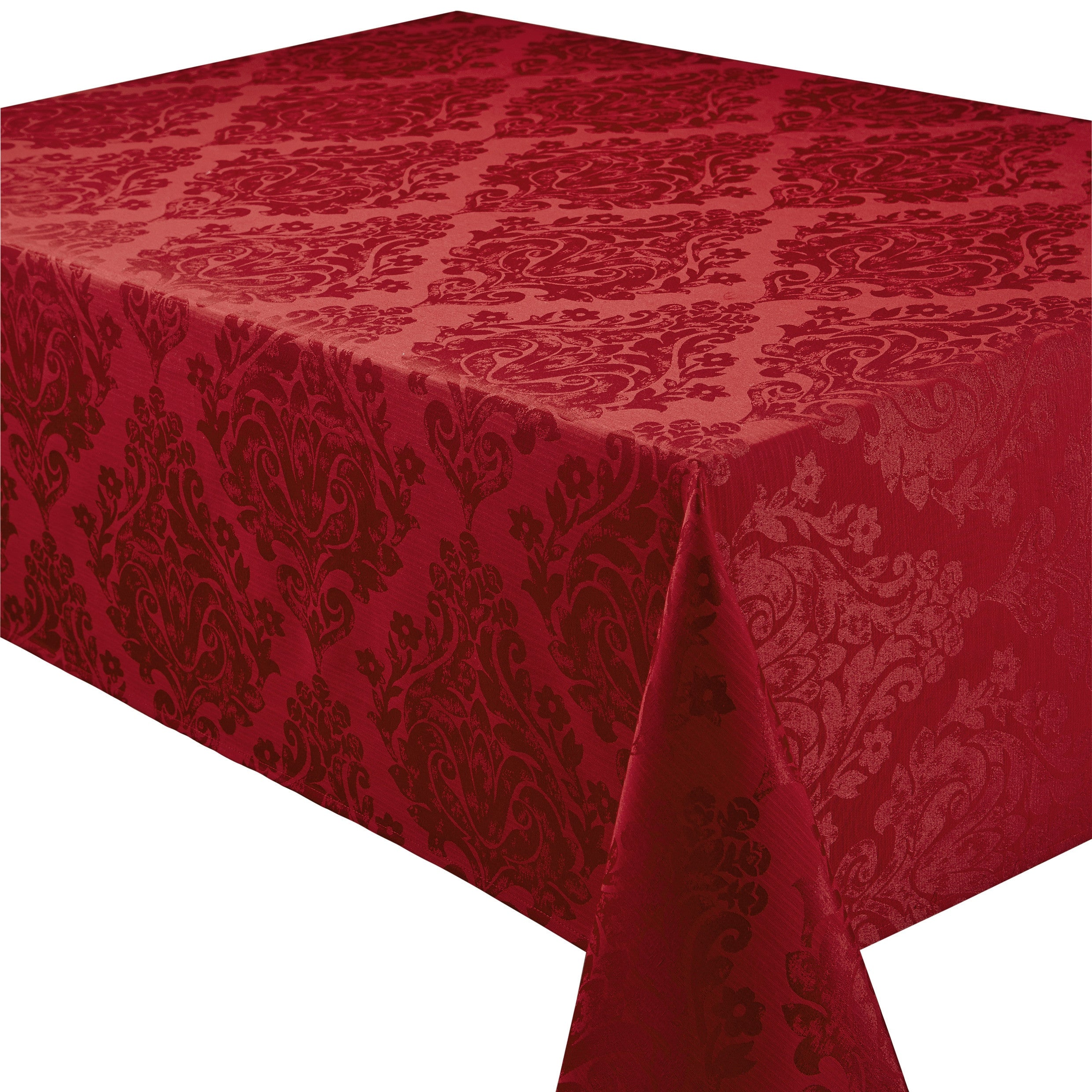 Superb Palazzo Damask Chateau Red Tablecloths And Accessories ...