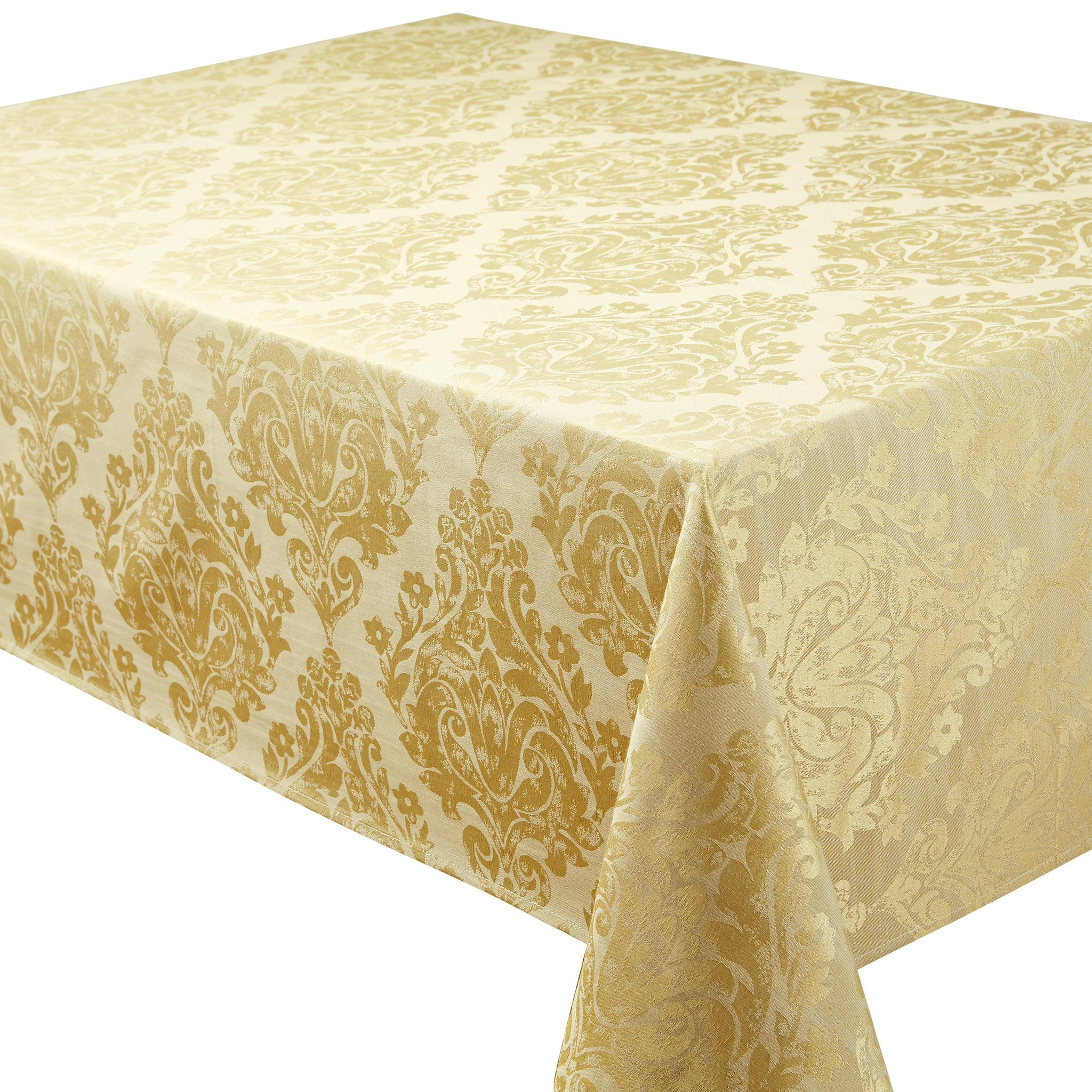 ... Palazzo Damask Antique Gold Table Cloth And Accessory Range ...