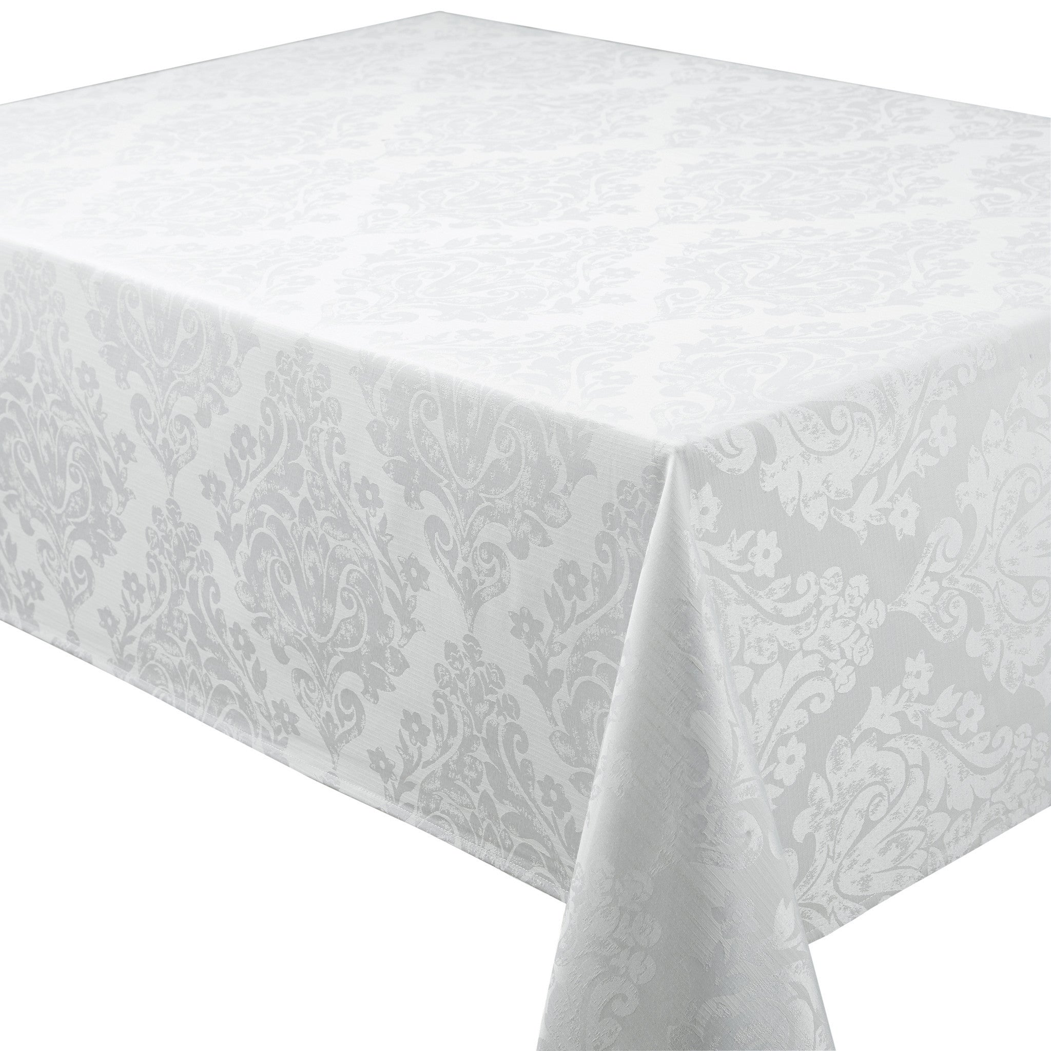... Palazzo Damask Snow White Tablecloths And Accessories ...