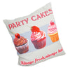 Printed Party Cakes Novelty Pictorial Cushion Cover - CLEARANCE PRICE