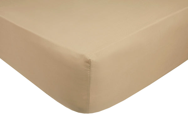 Polycotton Beige Fitted Sheets - TO CLEAR