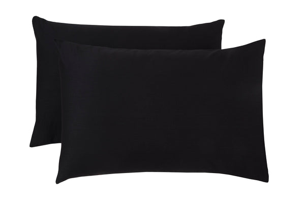 Polycotton Black Pillowcase Pairs - TO CLEAR