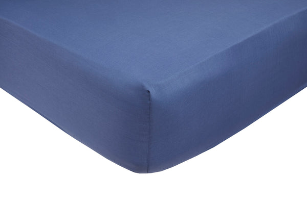 Polycotton French Blue Fitted Sheets - TO CLEAR