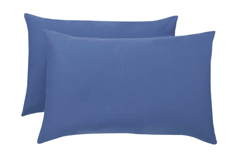 Polycotton French Blue Pillowcase Pairs - TO CLEAR