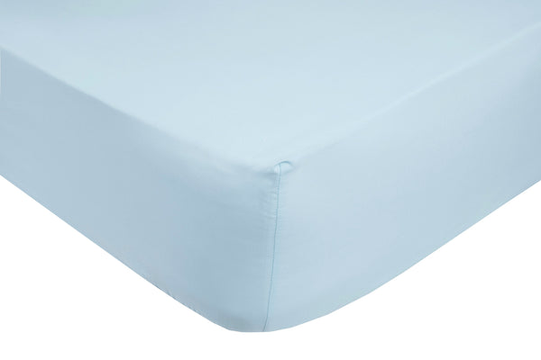 Polycotton Ice Blue Fitted Sheets - TO CLEAR