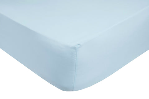 Polycotton Ice Blue Fitted Sheets