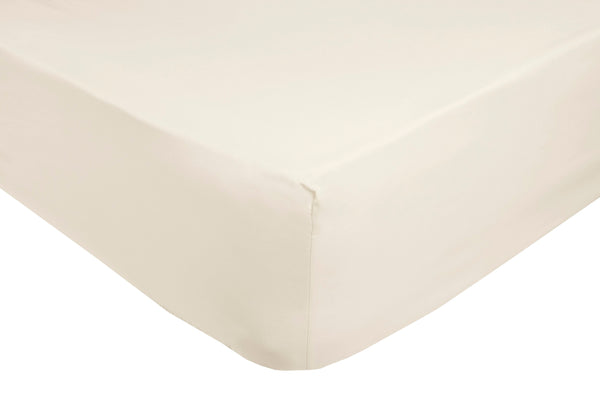 Polycotton Ivory Extra Deep Box (12in - 32cms) Fitted Sheets