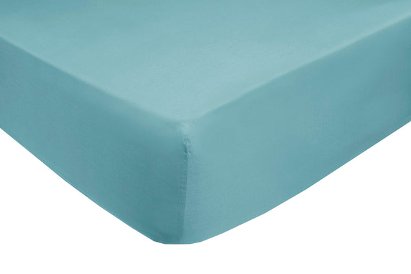 Polycotton Teal Fitted Sheets