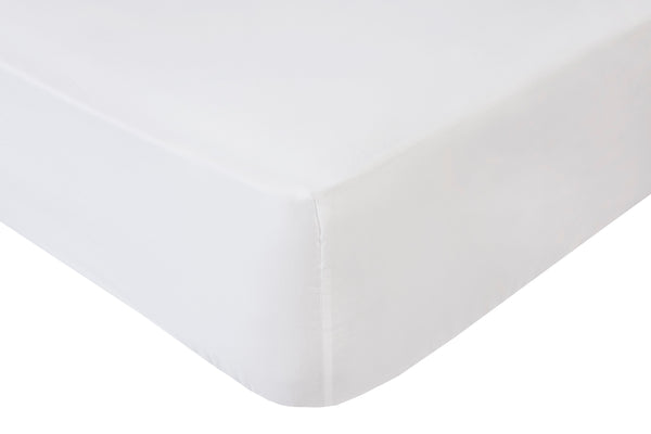 Polycotton White Super Deep Box (16in-42cms) Fitted Sheets - TO CLEAR