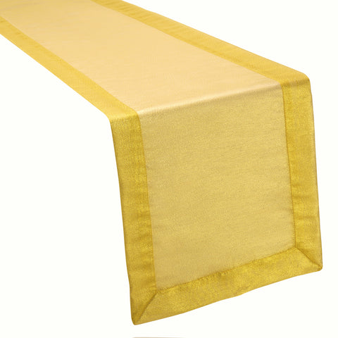 Metallic Organza Gold Table Runner