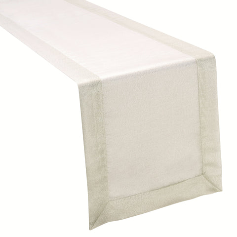 Metallic Organza Silver Table Runner