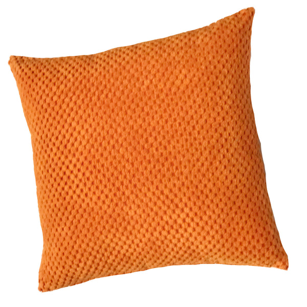 Chenille Spot Orange Textured Cushion Cover - CLEARANCE PRICE