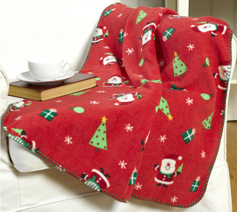 Santa Design Christmas Throwover/Blanket