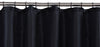 Black Shower Curtain Including 12 Rings
