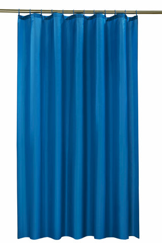 Blue Shower Curtain Including 12 Rings