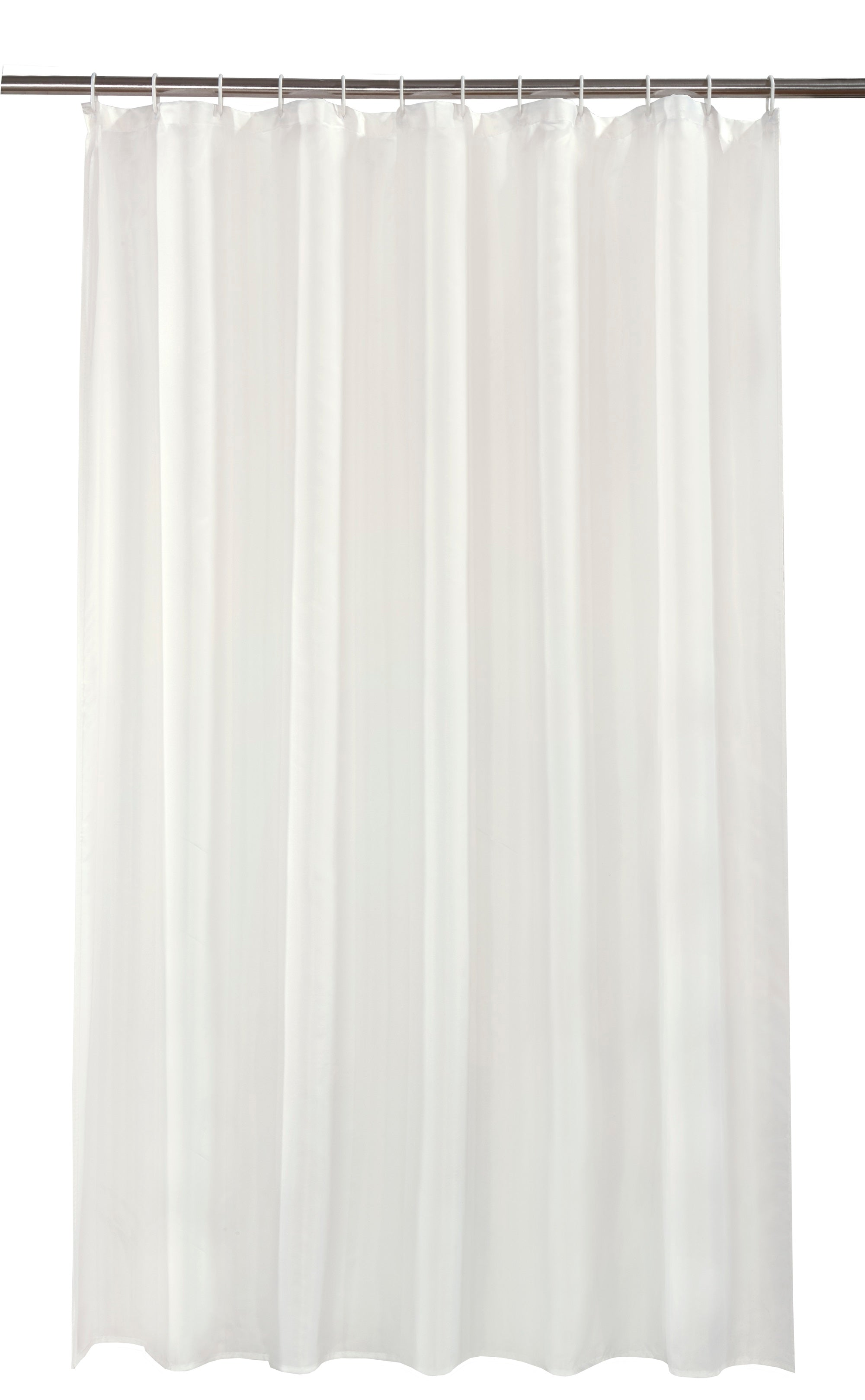 Waterline Cream Shower Curtain With 12 Rings