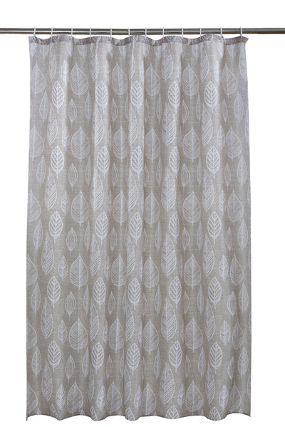 Leaf Shower Curtain Including 12 Rings