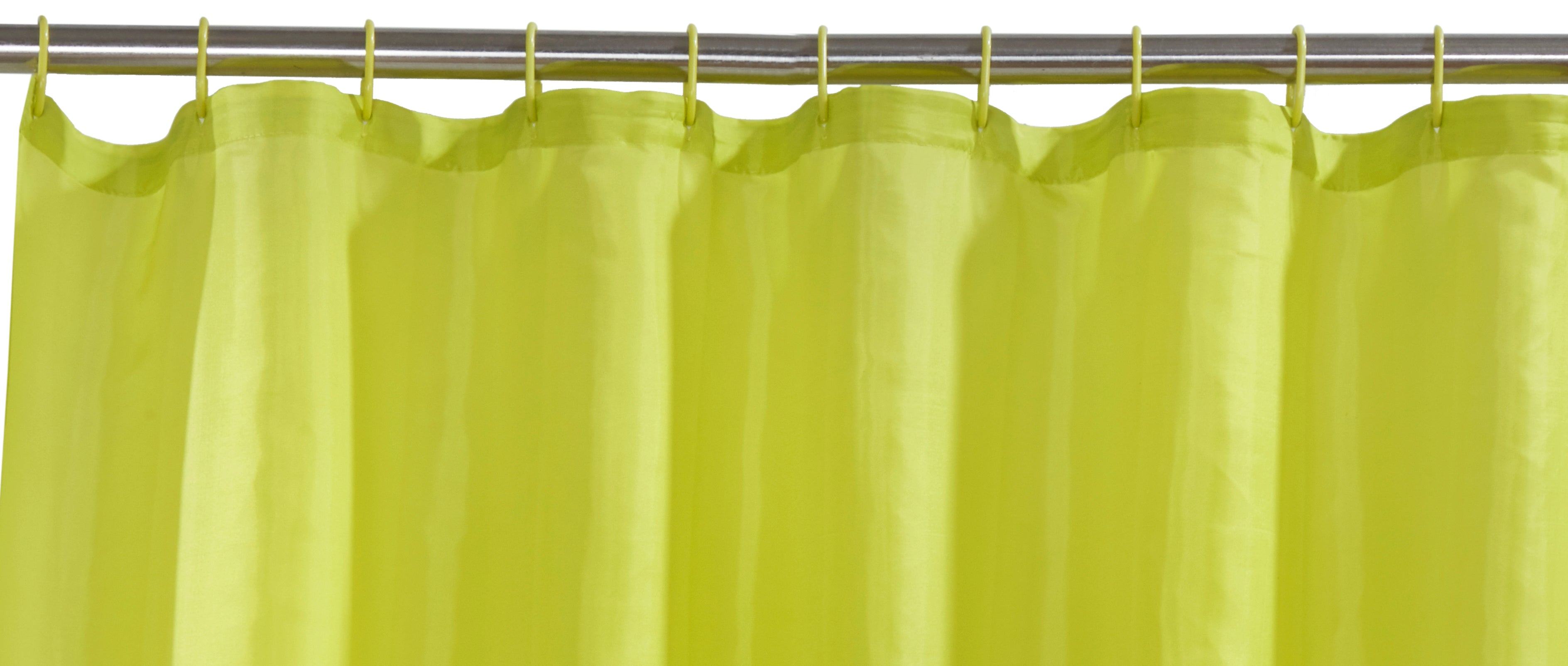 Lime Green Shower Curtain Including 12 Rings