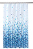 Mosaic Blue Shower Curtain Including 12 Rings