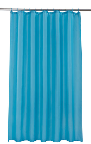 Teal Shower Curtain Including 12 Rings