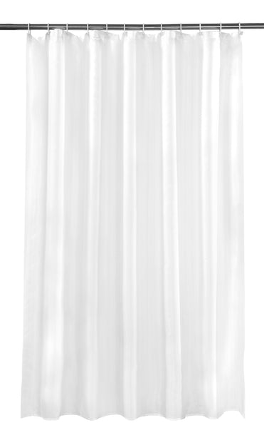 White Shower Curtain Including 12 Rings