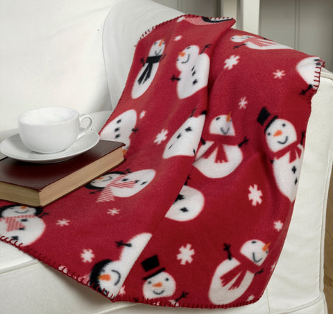Snowman Design Christmas Throwover/Blanket