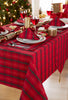 Tartan Red/Gold Christmas Tablecloth Mega Package Sets
