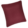 Waffle Red Plain Textured Cushion Cover - TO CLEAR