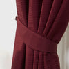 Waffle Red Textured Pencil Pleat Lined Readymade Curtains - TO CLEAR