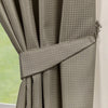 Waffle Taupe Textured Pencil Pleat Lined Readymade Curtains