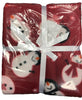 Twin Pack Snowman Design Christmas Throwover/Blanket