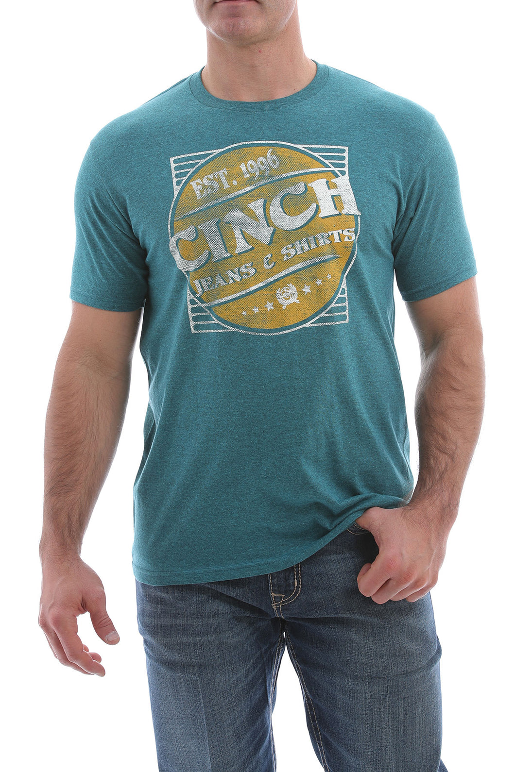 Men's Cinch Teal Tee